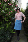 Black-target-tights-vintage-glasses-cotton-vintage-blue-skirt-silk-pink-vi