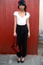 Uo-blouse-prada-bag-accessories-f21-pants-cathy-jean-shoes-f21-headband-