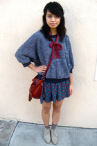 American Apparel sweater - UO skirt - the sak accessories - vintage shoes