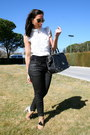 Loewe-bag-ray-ban-sunglasses-zara-heels-bershka-pants-sfera-blouse