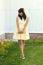 Light-yellow-zara-dress-light-pink-vintage-bag-off-white-vintage-heels