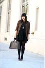 Black-buffalo-exchange-dress-dark-brown-vintage-blazer