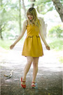 Mustard-mustard-yumi-dress-red-clogs-lotta-from-stockholm-clogs