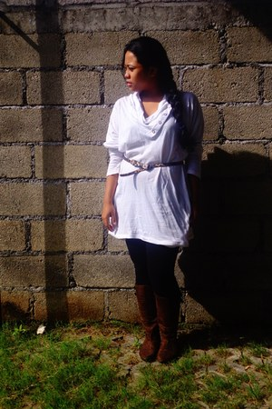 white cotton rusty blank blouse