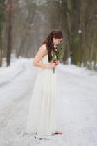 off white asos dress