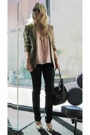 Ralph Lauren blazer - forever 21 blouse - J Brand jeans - Marc by Marc Jacobs sh
