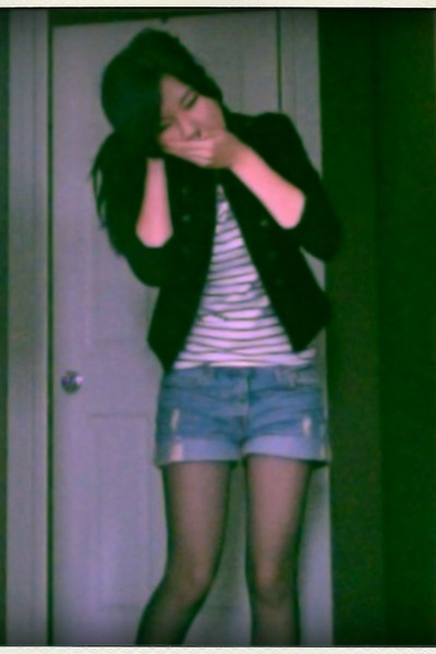 H&amp;M jacket - Forever 21 blouse - Levis jeans