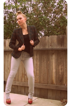 blazer - forever 21 top - store shoes - BDG jeans