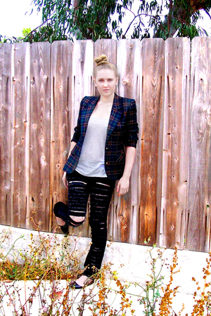 H&M top - Goodwill blazer - Billabong jeans - Fairy Tales are True shoes