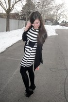 Old Navy cardigan - venus dress - H&M tights - Macys wedges