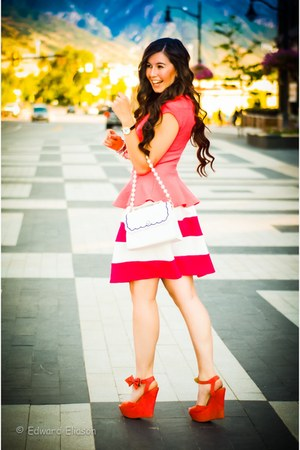 Charlotte Russe top - ami clubwear wedges - Charlotte Russe skirt