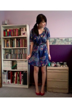 French Connection dress - vintage shoes