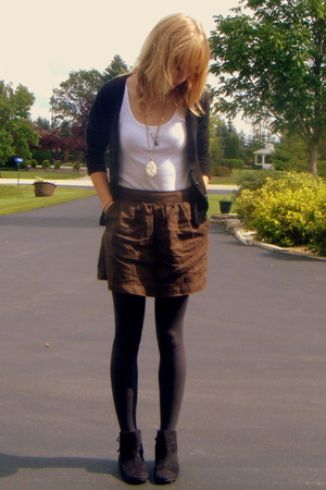 Old Navy skirt - sweater - Gap tights - Rampage shoes - necklace
