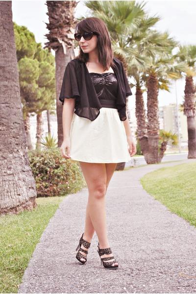Pimkie top - clockhouse skirt - Savida cardigan - CDC heels