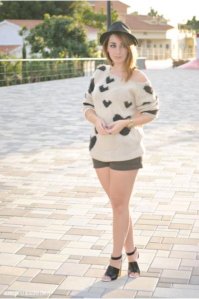AX Paris sweater - Mango shorts - Sway Chic heels