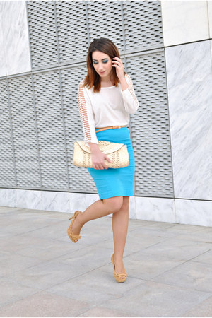 H&M skirt - Xaro sastre bag - Dunnes belt - Marypaz heels - OASAP top