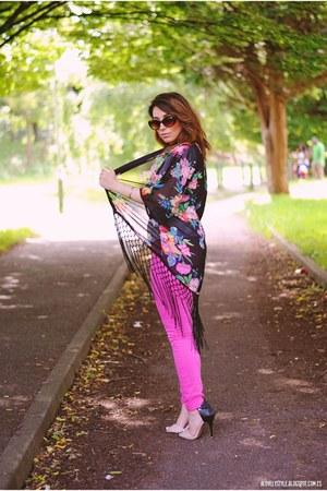 OASAP blouse - indigopaper pants - Anne Michelle heels