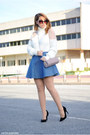 Chicwish-sweater-blanco-bag-chicwish-skirt-atmosphere-heels