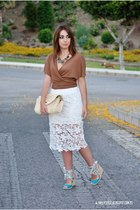romwe skirt - Xaro sastre bag - Marypaz wedges - Zendra vest