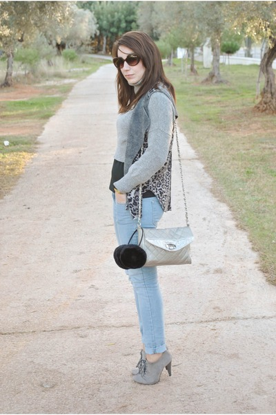 Marypaz boots - clockhouse jeans - Mango sweater - Dunnes bag - romwe vest
