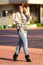 clockhouse shirt - Dunnes boots - Lefties jeans - Kiabi vest