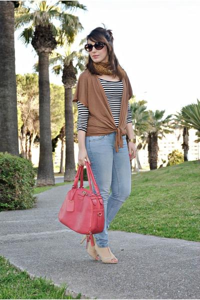 clockhouse dress - clockhouse jeans - Zendra vest - Savida heels