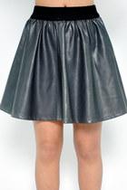 Pleather skirt - gray