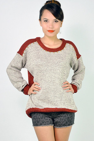 rivet knit lovemartini sweater