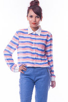 Candy stripe blouse - pink