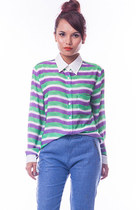 Candy stripe blouse - green