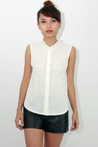 Organza collar blouse