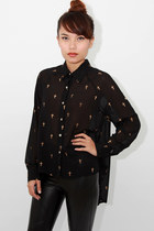 Gold cross blouse