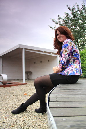 amethyst vintage blazer - black H&M skirt - white c&a blouse