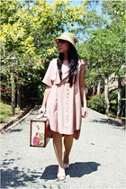 light pink shoes - pink deways dress