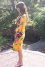 Gold-afghan-thrifted-vintage-dress-beaded-anthropologie-belt-feathered-thrif