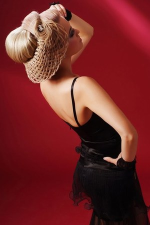 hair hat - dress - gloves