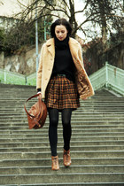Zara shoes - vintage jacket - Amisu skirt - hm sweatshirt