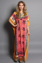 Vintage Ethnic Caftan Maxi Dress