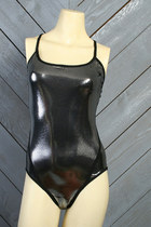 Black-metallic-vintage-speedo-swimwear