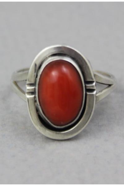 brick red vintage ring