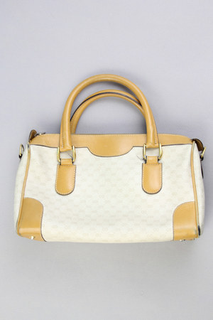 beige speedy Vintage Gucci bag