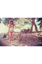 red mambo swimwear - neutral OASAP hat
