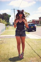 black One Teaspoon shorts - charcoal gray Boston Babe shoes