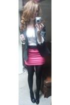 skirt - blazer - belt