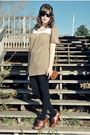 Brown-mooka-kinneydcloth-dress-black-target-tights-brown-seychelles-shoes-