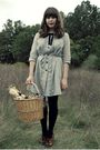 Silver-dear-creatures-dress-black-target-tights-brown-vintage-shoes-black-