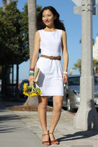 white Jcrew dress