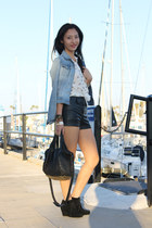 denim jacket H&M jacket - Zara shirt - H&M shorts