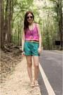Topshop-shorts-ray-ban-sunglasses