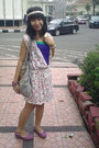 Dress-bottega-bag-crocs-flats